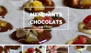 Mendiants aux chocolats blanc et Noir