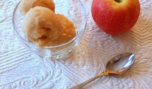 Sorbet à la pomme cuite au sirop façon compote de pommes