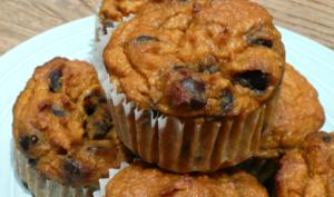 Muffins citrouille- pépites de chocolat