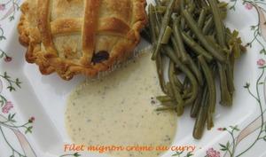 Filet mignon crème au curry