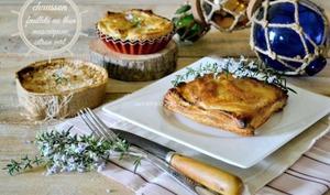 Chausson feuilleté au thon mascarpone et citron