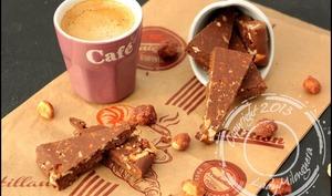 Crunchy peanuts fingers au chocolat, Nutella et dentelles