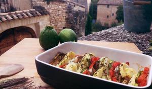 Tian de légumes à la mozzarella et au thym