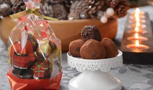 Truffes au chocolat pétillant