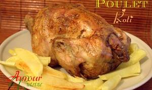 Poulet pour noël rôti au four