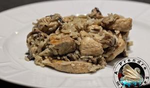 Escalopes de poulet à la normande et riz vapeur