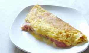 Omelette au bacon et au bleu