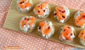 Bouchées apéritives endive et saumon fumé