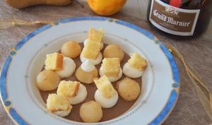 Poire pochée à l'orange et aux épices