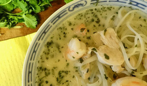 Soupe de nouilles à la noix de coco et au citron vert