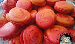 Macarons marbrés aux fruits de la passion