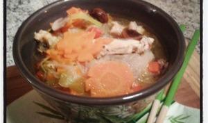 Soupe de poulet au vermicelle de riz