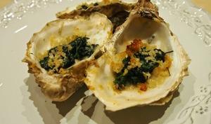 Huîtres gratinées aux épinards à la Rockefeller