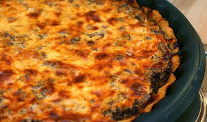 Quiche à la viande et au fromage