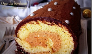 bûche chocolat pralinoise