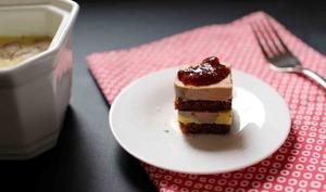 Bouchées au foie gras, pain d'épices et chutney de figues
