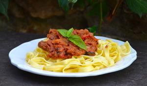Tagliatelles sauce légumes grillés et ricotta
