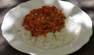 Spaghetti bolognaise au tofu