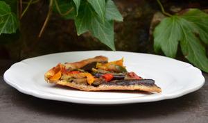 Tarte aux légumes grillés et tapenade
