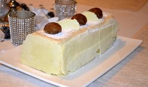Bûche vanille – marron