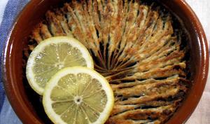 Anchois cuits au four