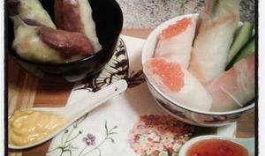 Duo de rouleaux de printemps : au canard et au surimi