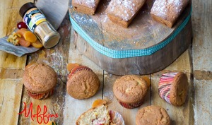 Muffins saveur pain d'épices et fruits secs
