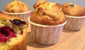 Muffins aux Framboises et à la Pistache