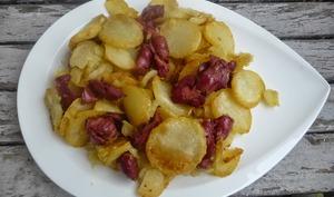 Poêlée de pommes de terre aux gésiers de volaille confits à l'Actifry