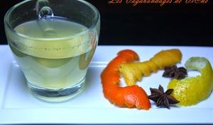Vin blanc chaud aux agrumes