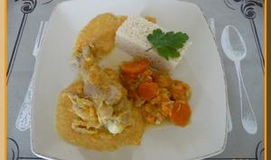 Blanquette de dinde, poireaux et carottes