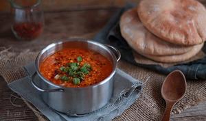 Soupe au Boulgour et Lentilles Corail