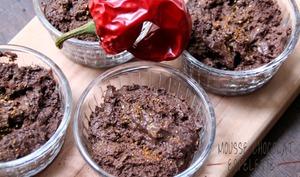 Mousse au chocolat et piment d'espelette