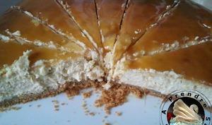 Cheesecake à la banane et coulis de caramel