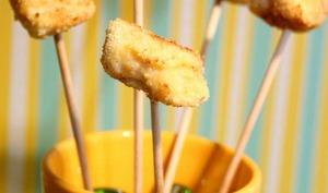 Sucettes de poulet panés aux noisettes