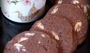 Cookies noir et blanc: cacao et chocolat blanc