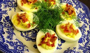 Oeufs durs farcis au rôti de boeuf, Deviled Eggs