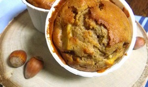 Muffins à la pomme, noisette et bergamote
