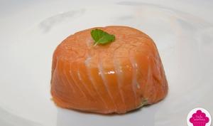 Bavarois d'avocat au saumon fumé