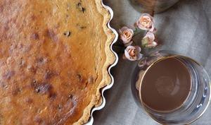 Tarte à la ricotta, aux pépites de chocolat et au Baileys Chocolat Luxe