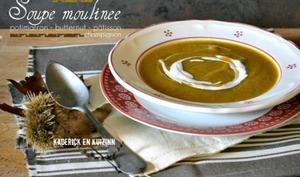 Soupe moulinee potimarron, butternut, pâtisson et champignon