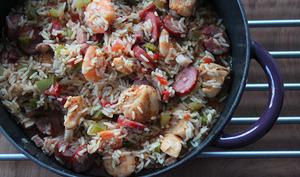 Jumbalaya poulet crevettes