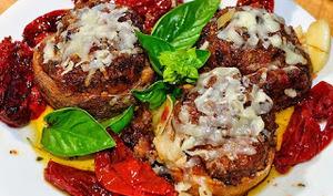 Champignons farcis pancetta, parmesan