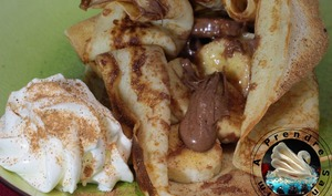 Crêpes en aumônière banane chocolat