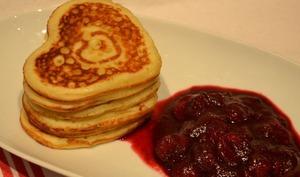 Pancakes pour la Saint Valentin