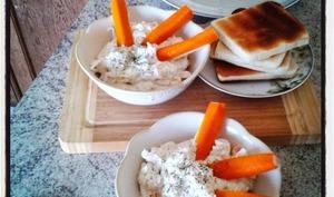 Tartinade au fromage frais à l'ail, au fenouil, aneth et surimi
