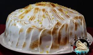 Gâteau à la vanille et crème de citron meringué