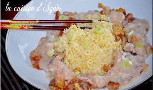canard sauce crevette riz frit