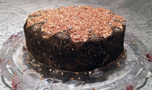 Layer cake rhum amandes