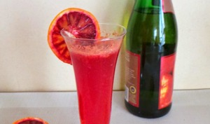 Cocktail de cidre à l'orange sanguine et au gingembre
